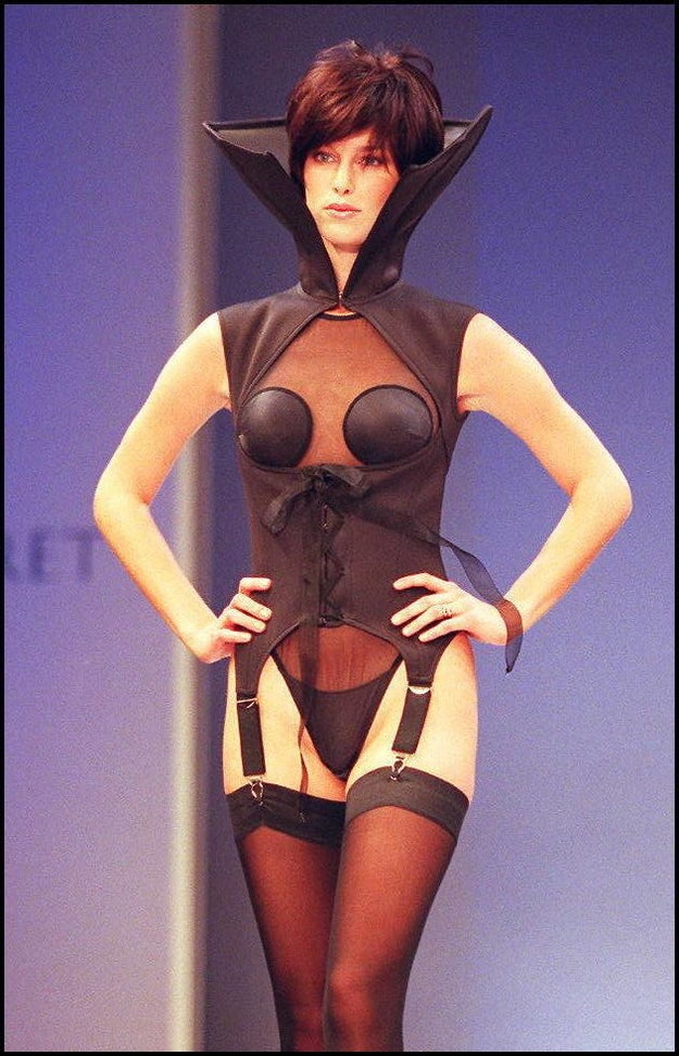 Twenty years ago (1997), this scuba-diving vampire corset was one of the ~sexy~ looks modeled on the runway in New York.