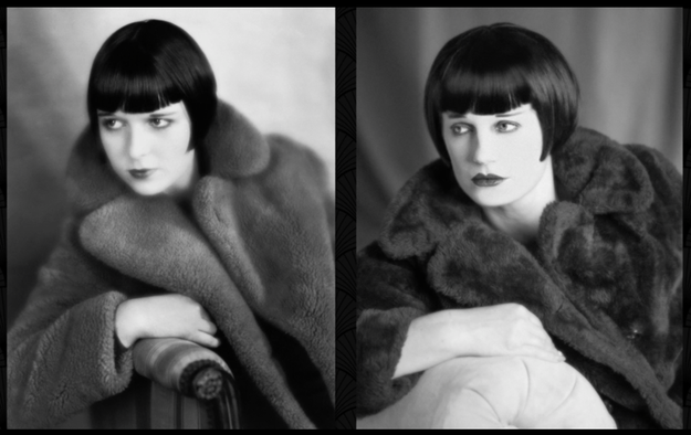 And last but not least Chloe recreated this fierce photo of Louise Brooks taken in 1927.