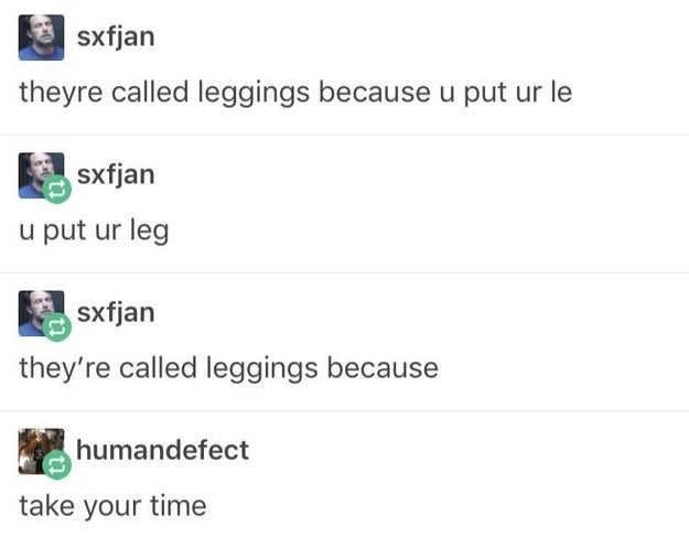 The origin of leggings:
