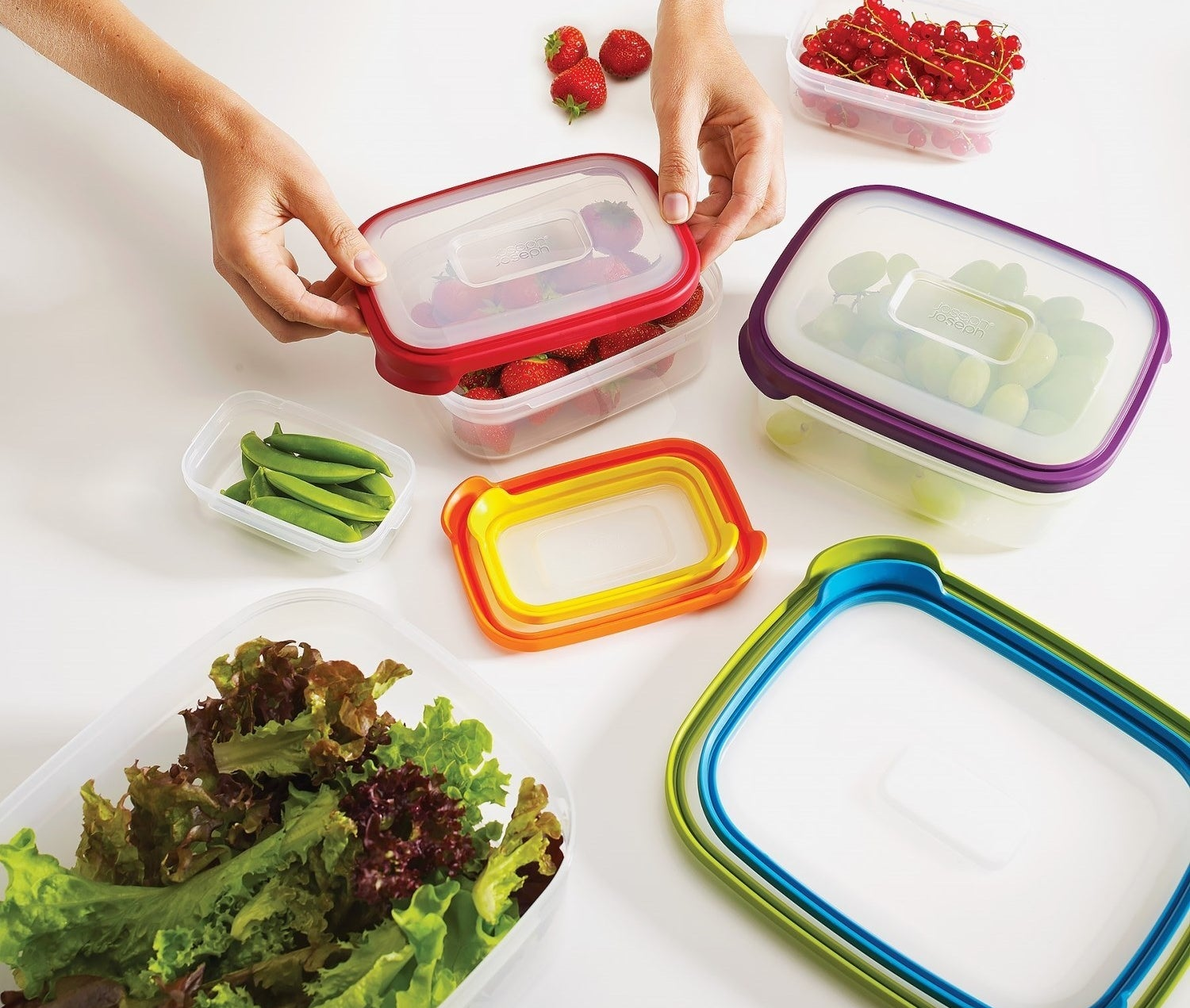"""All the containers can be nested inside one another or on top of each other for space-saving purposes. They're top-rack dishwasher safe and BPA free. Promising review: """"Great product. Well-made and durable. I've had these bowls for six months now, and they are battle tested after numerous cycles in the dishwasher. The bowls resist staining from sauce, etc. and the lids hold their shape very well. They look as new today as they did at Christmas."""" —P DaddyGet a 12-piece set (six containers and lids) from Amazon for $27.96."""