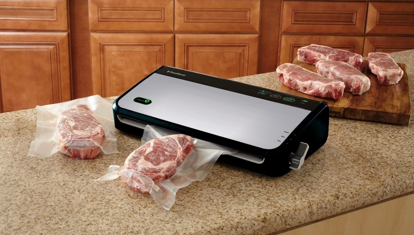 A vacuum sealer perfect for anyone who likes buying in bulk. Sealing and freezing ingredients allow them to last much longer (literally for years) so you won't have to worry about not finishing everything in time.