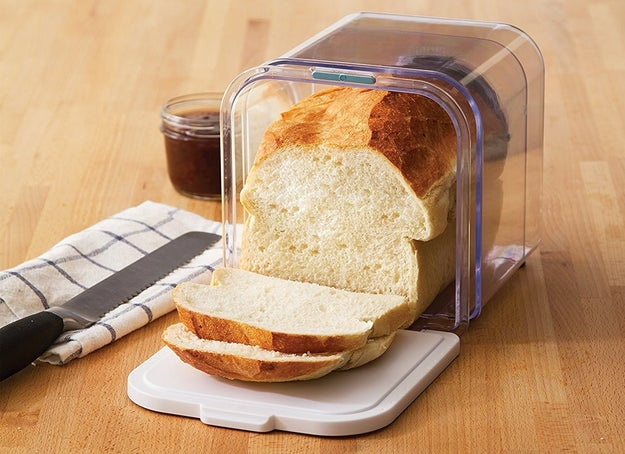 A collapsible bread box to keep your weekly loaf (or other baked goods) perfectly soft and edible for more than just a couple days.