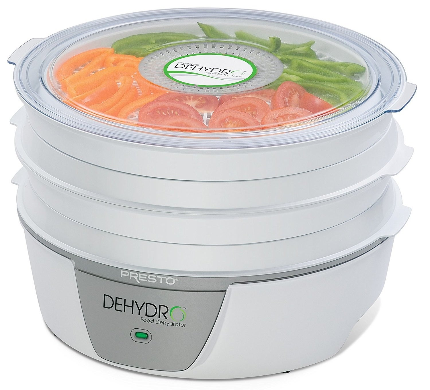 A handy dehydrator for yet another way to eat and store excess food. Try making dried fruit and peppers, chips, or even jerky!