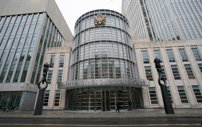The federal courthouse in Brooklyn where the FIFA trial is talking place on November 13, 2017 in New York.