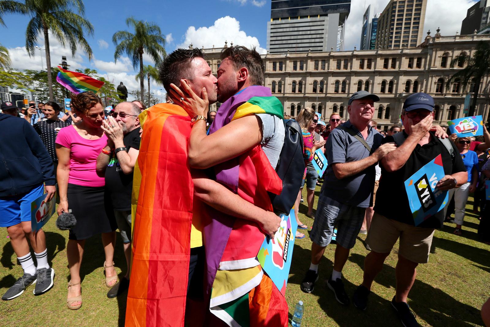 Gay marriage activists
