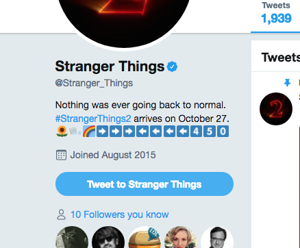 Netflix's Twitter bio that makes a LOT more sense now that the season's over: