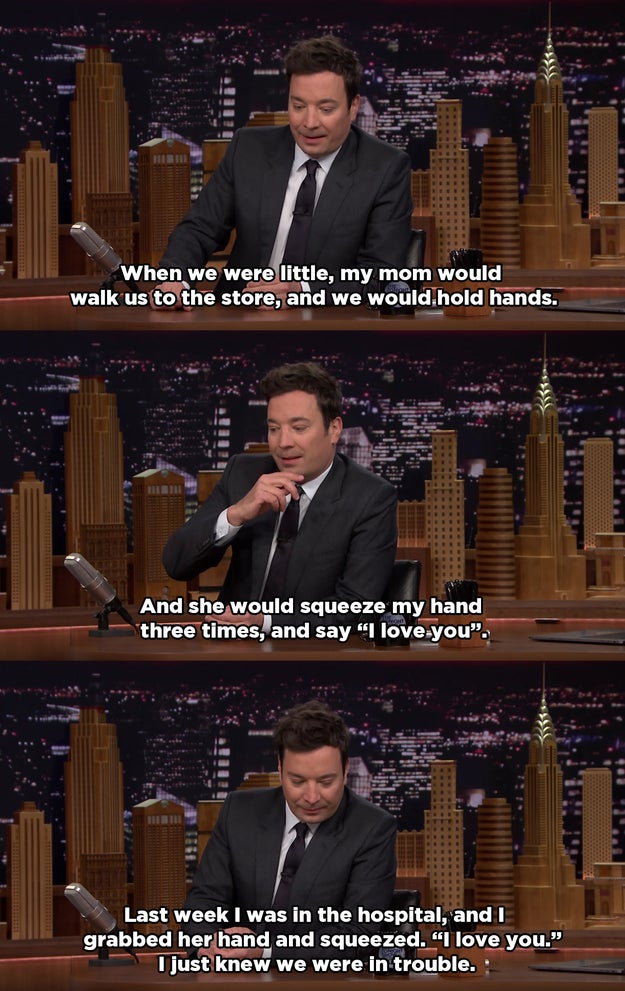 The show was the first back after Jimmy's mother, Gloria, died just over a week ago. At the beginning of the episode, he paid an emotional tribute to her, during which he said this: