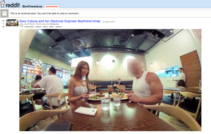 r / SexyCyborgLiar с тех пор был запрещен за нарушение политики контента Reddit.