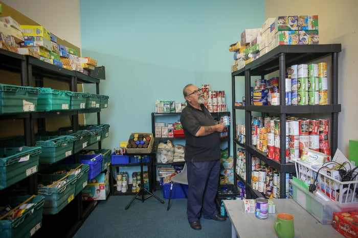 A foodbank run by Transformation CPR, in Cornwall.