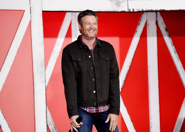 "ICYMI, Blake ""I'm super in love with Gwen Stefani and killing it on The Voice"" Shelton was named People magazine's Sexiest Man Alive this year."