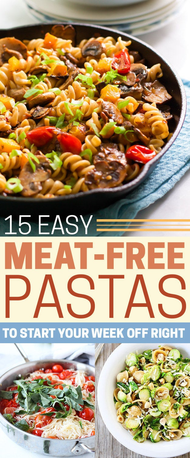 Full list: 15 Delicious Pastas With No Meat