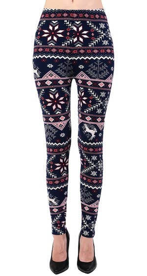 0deb18f012be5 Brushed fair isle–print leggings, because your stems deserve to enjoy  sweater weather, too!