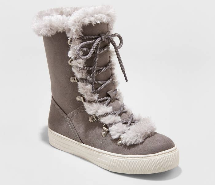 """Promising review: """"Very stylish, pleasantly warm, and super comfy. Price is very affordable for the quality; it reminds me of a chic Ugg boot."""" — StephM87Get them from Target for $32 (originally $37.99) Sizes: 6–11"""