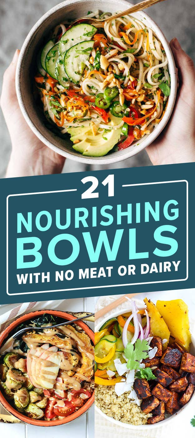Heres every vegetarian and vegan recipe you could ever need full list 21 hearty nourishing bowls with no meat or dairy forumfinder Choice Image