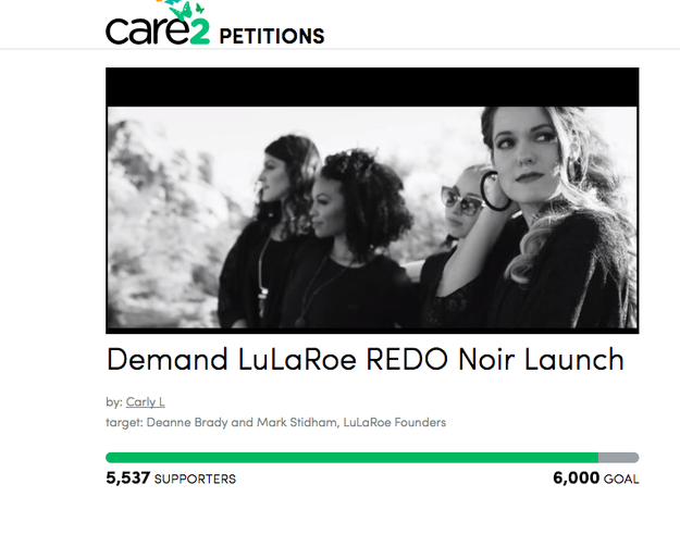 "Some LuLaRoe fans and consultants have even started a petition demanding the company ""redo"" the launch. As of this writing, more than 5,500 people have signed."