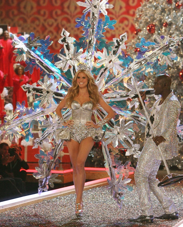 Forget Bella Hadid and the Weeknd — Heidi Klum and Seal were the first couple to appear together at a Victoria's Secret show. Seal performed during the 2007 show.