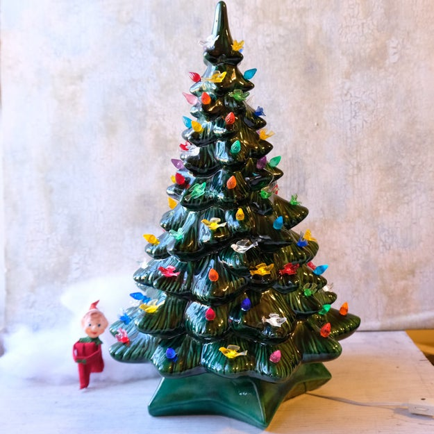 Seeing one of these ceramic Christmas tree laps any time you went to your grandma's. And knowing not to touch it 'cause they were HOT!
