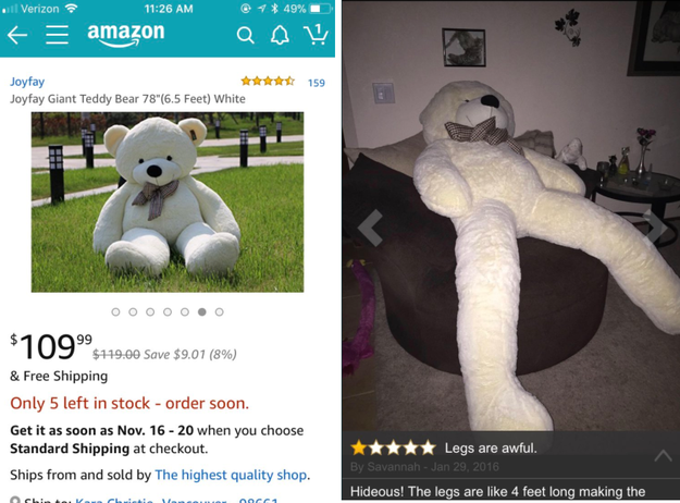 And it's this stuffed bear: