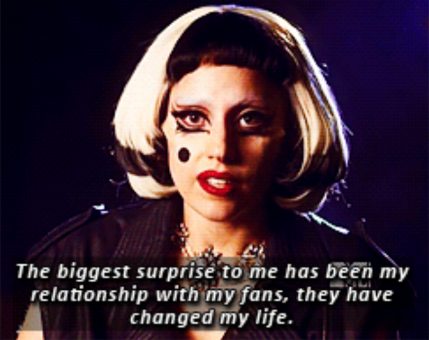 There's no doubt that Lady Gaga LOVES her fans.