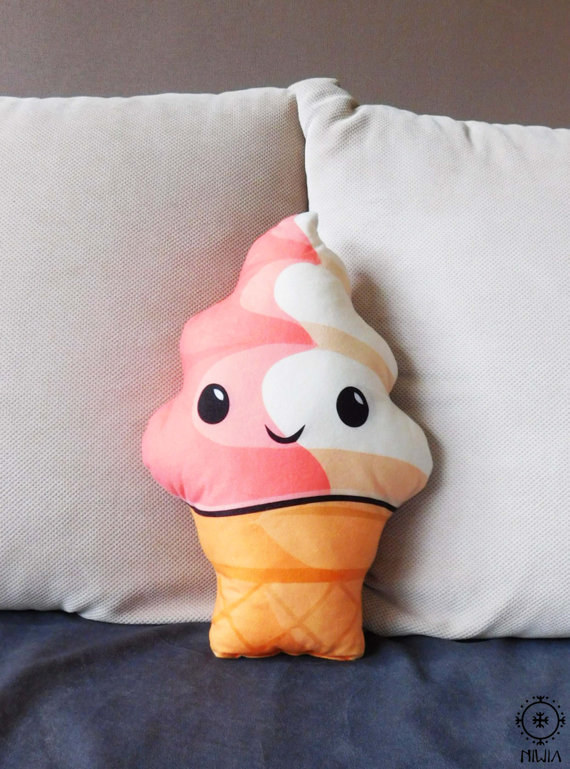 An ice cream pillow
