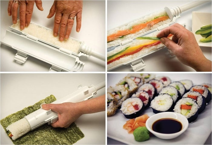 Just pad in the rice, add filling, close, and push the plunger. Bam! You're basically a sushi chef. Get it from Amazon for $9.99 or Walmart for $6.47.