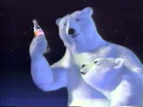Totally thinking the Coca-Cola Polar Bears were adorable AF.