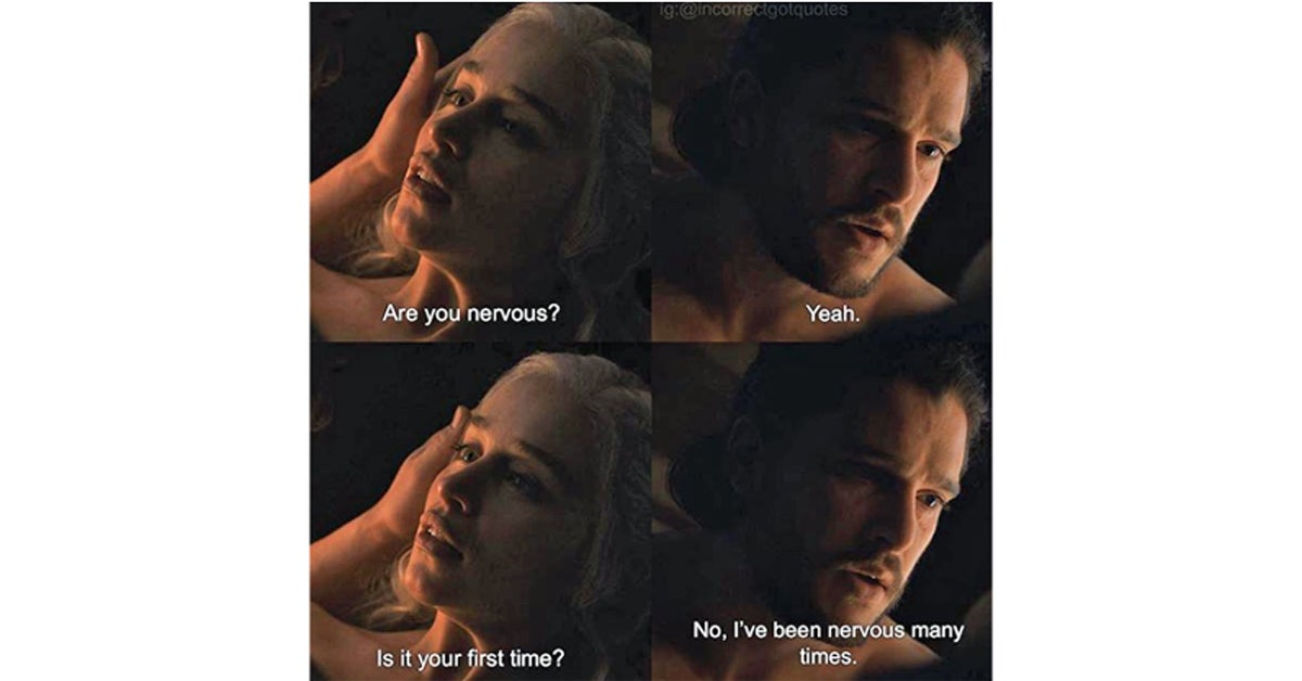 these game of thrones photos paired with incorrect quotes are
