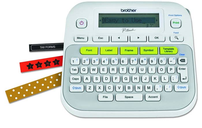 """Promising Review: """"This label maker is SO COOL!!!!!! A lot of people complain about there being too much space on the sides, but you can adjust the setting for that. Read through the instructions carefully and you'll see how easy it is to use. There are so many options for fonts, symbols, and little pictures. This thing is so fun!!! I can't imagine a label maker being any better than this!!!"""" —TiffanyGet it from Amazon for $19.99."""