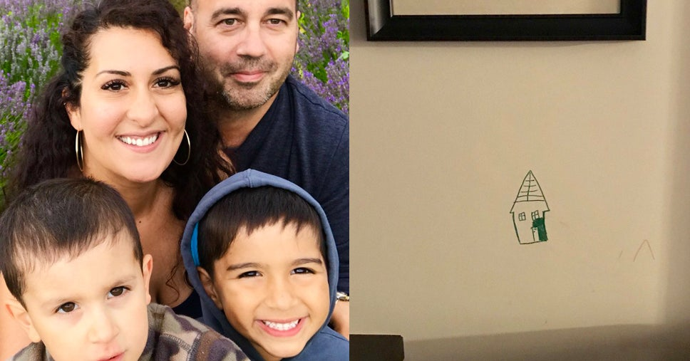 A Mom Had An Adorably Hilarious Solution After She Caught Her 6-Year-Old Drawing On The Wall