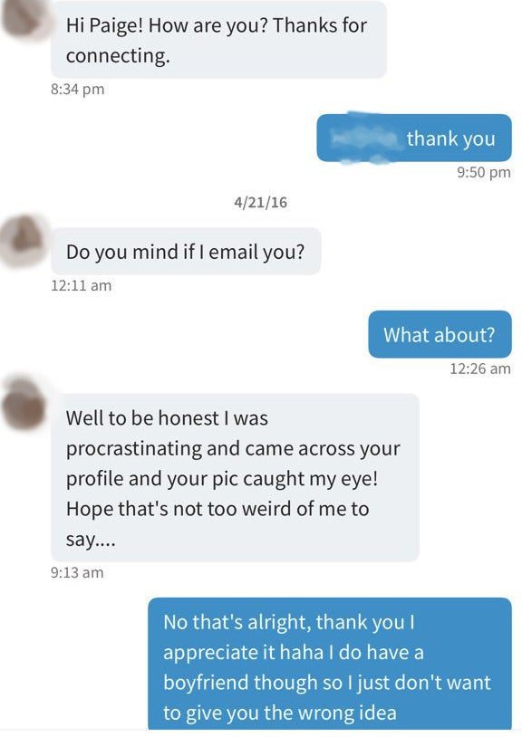 Linkedin not a dating site