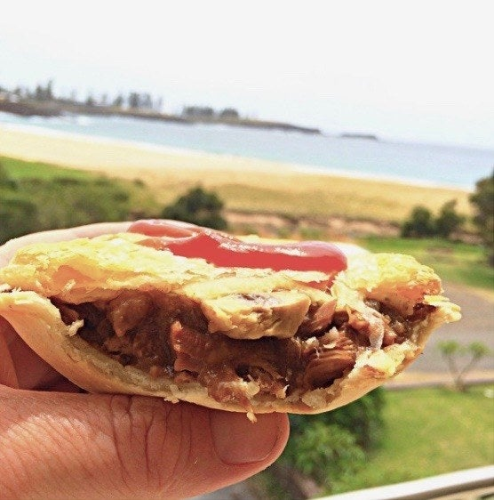 Oh, man! This pie by Kiama Pie Shop in Kiama stole my heart. Freshly baked, crispy crust, and filled with tender chunks of meat. Yes! Actual whole pieces of beef, instead of mince. Something about this made the pie so much more flavourful, rich, and complex: the perfect balance of textures. I never knew I'd use all these fancy adjectives to describe a meat pie, but this one really deserves them.