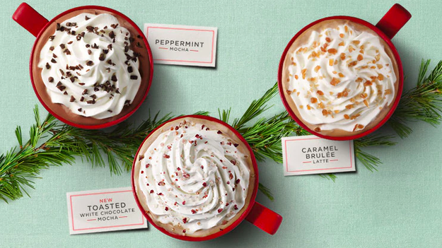 The Starbucks holiday menu is back and that means decadent chocolatey drinks topped with whipped cream for everyone!
