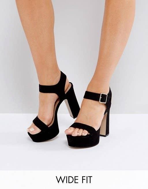 Asos Harrison Wide Fit Platform Sandals