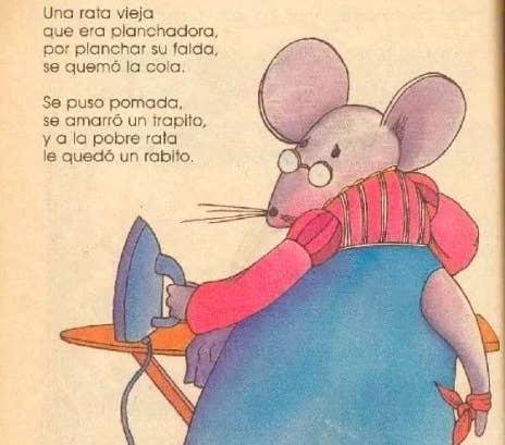 ¿Por qué nos contaban esta historia tan deprimente? La pobre rata se quemó la cola con la plancha y le quedó un rabito, ¡UN RABITO! :(