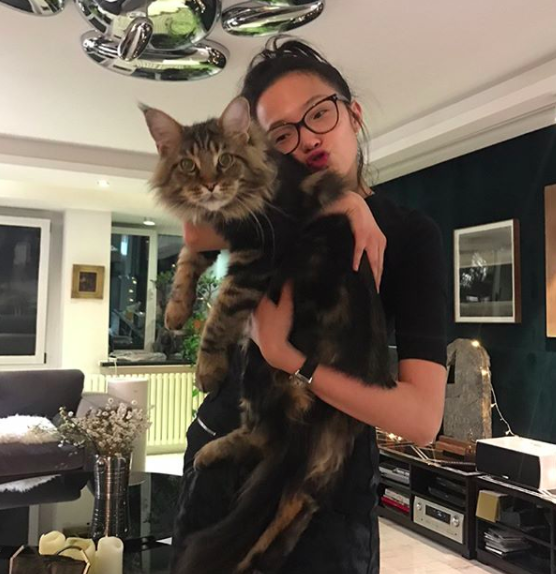 Speaking of cats, why is Ju Wen's friend the size of a teenage lion?
