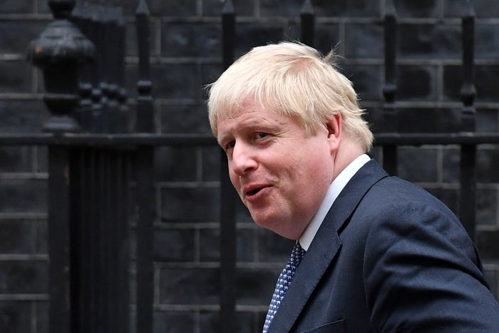 Foreign secretary Boris Johnson leaves 10 Downing Street.