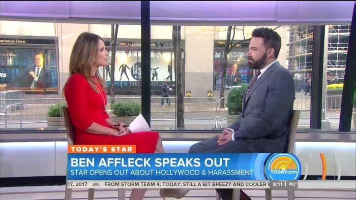 "Affleck told Guthrie that he had ""stopped working with Harvey a long time ago"" and said that the Weinstein films he did earlier in his career hold a special place in his heart. ""The only thing I can think to do is give my residuals from my Harvey movies to a couple of organizations that are making a difference,"" Affleck said. ""It's a way for me to feel better about that early stage in my career when I made the movies with him.""A representative for Affleck told BuzzFeed News that the actor would donate to RAINN, ""the largest anti-sexual violence organization,"" according to its website, as well as Film Independent, a nonprofit that ""champions independent film and supports a community of artists who embody diversity, innovation and uniqueness of vision."""