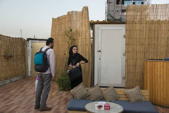 Young Afghans hang out in the latest trendy cafe on the main street of Shahre Naw neighborhood.