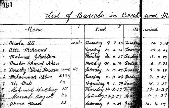 """A page from the """"Indigent Moslem Burial Fund"""", perhaps the first British Muslim charity, founded in 1927."""