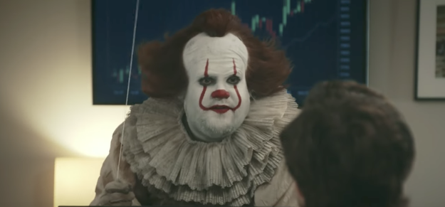 When he dressed up as Pennywise in a hilarious It / I.T. department mash-up: