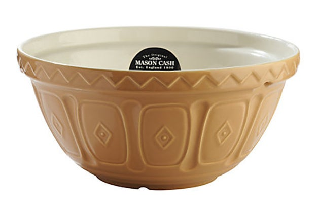 A classic Mason Cash mixing bowl.