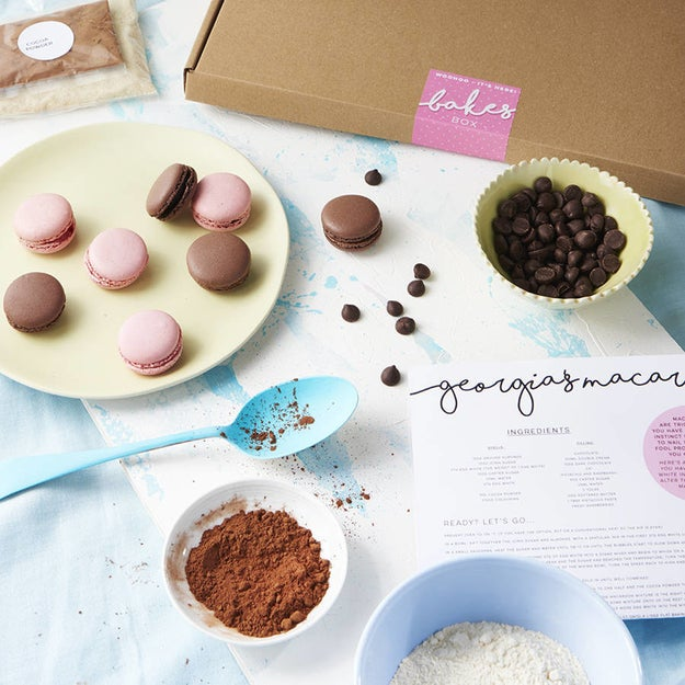 "A ""make your own macaron"" kit."