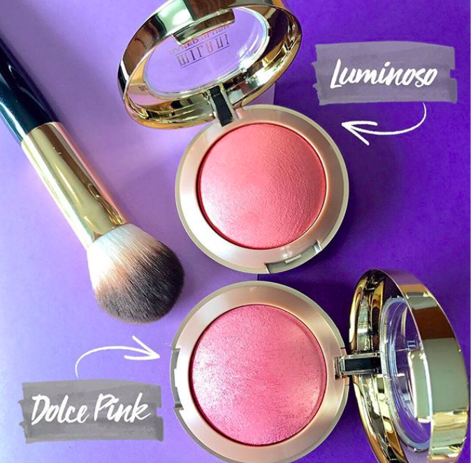 """Promising review: """"This is very pigmented, and looks beautiful! I adore this blush, and it does does come with a brush and mirror on the bottom portion of the container."""" —KLadd82Get the Dolce Pink shade from Amazon for $6.95 and the Luminoso shade from Jet for $6.99."""