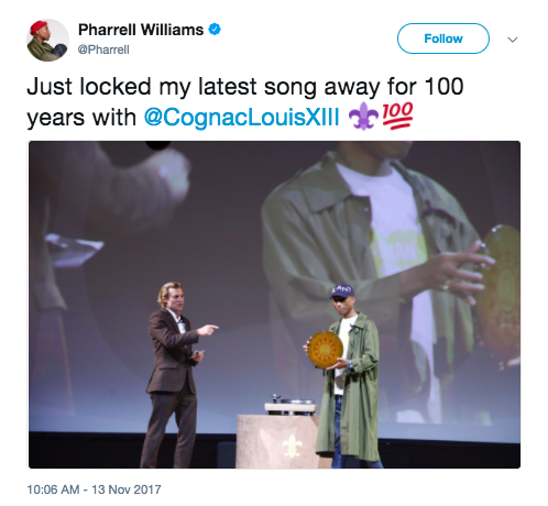 Pharrell Williams made a new single, but it's not going to drop anytime soon.
