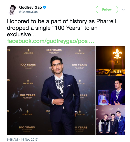 """Before getting locked into the safe, Pharrell had a listening party of """"100 Years"""" for 100 people."""
