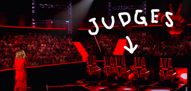 PRESUMABLY, the judges were supposed to turn their chairs around, realize it was THE Rita Ora standing before them, and everyone would have a good laugh.