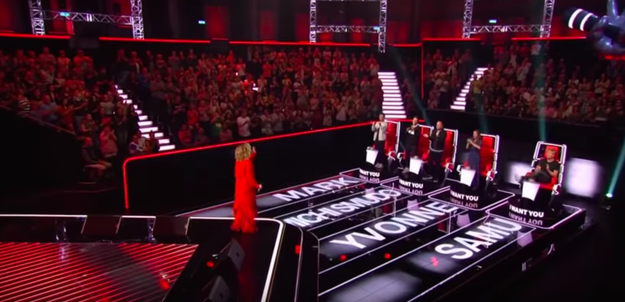 The one silver lining: They DID really like her audition!!! I mean, all four judges turned around their chairs for her.