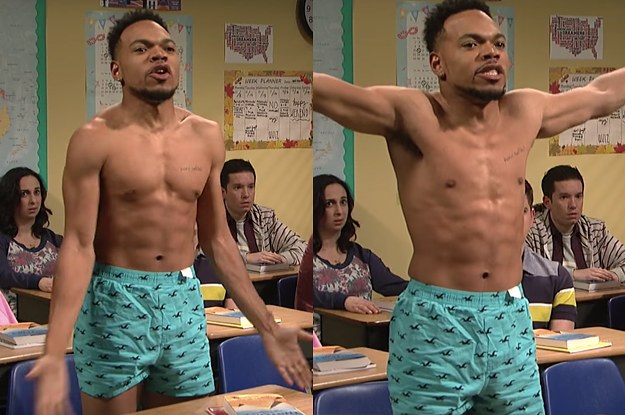 """Chance The Rapper Stripped Down To His Underwear On """"SNL"""" Last Night And It's Everything You've..."""