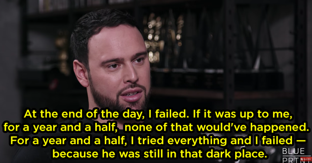 Scooter said he felt as though he failed Justin.