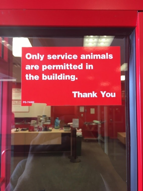 Whoever made this sign for Target, which technically bans all humans from entering.